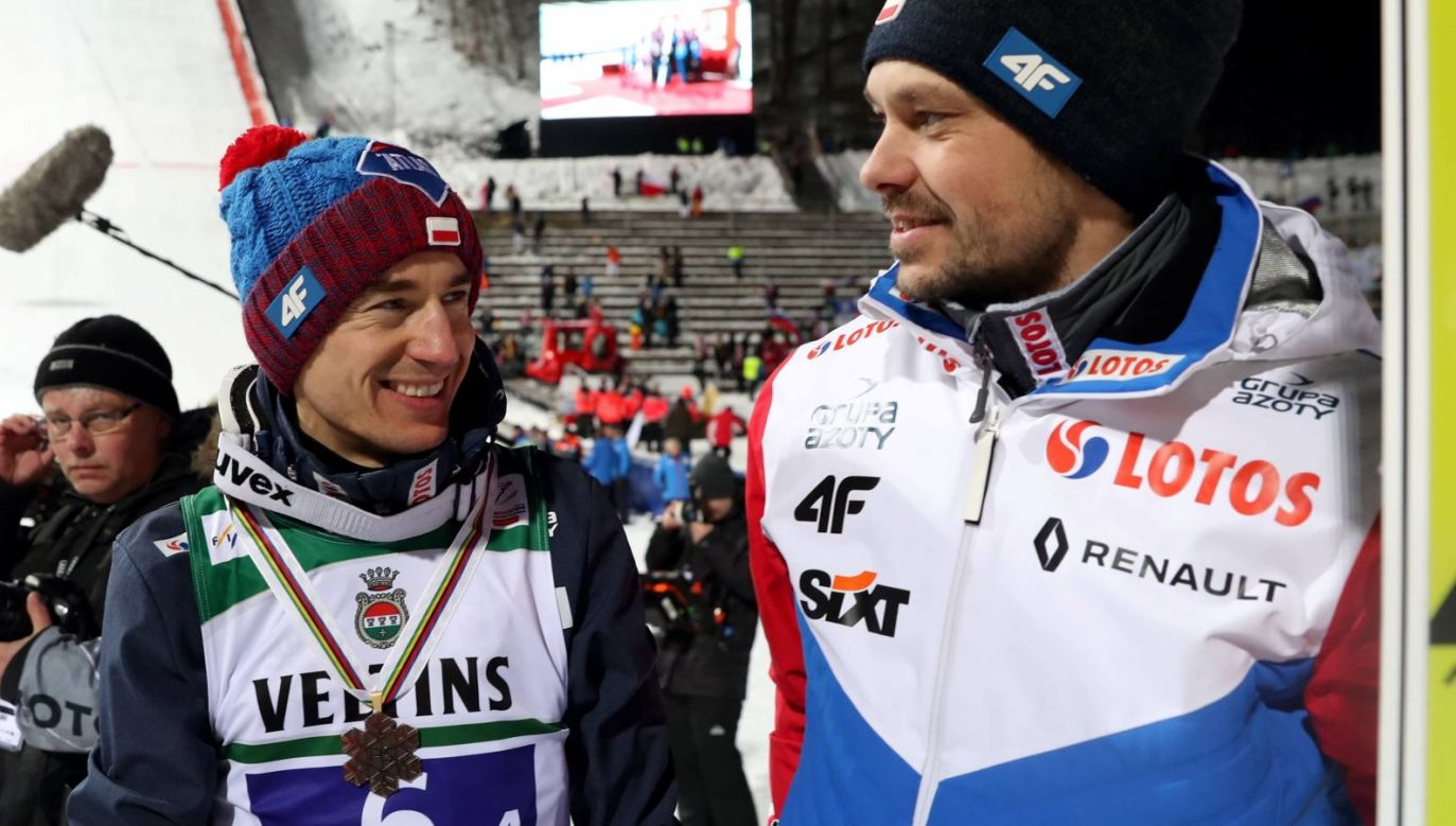 Kamil Stoch i Michal Dolezal (fot. PAP)