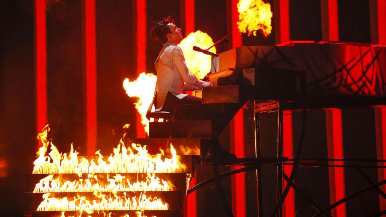 Finał 63. Konkursu Piosenki Eurowizji rozpoczął Mélovin z Ukrainy i od razu rozgrzał widownię! (Andres Putting/eurovision.tv)