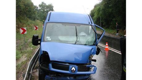 Także we Włocawku bus zderzył się z TIRem