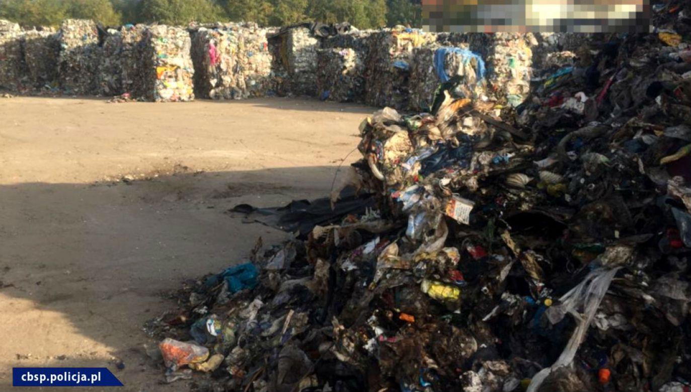 Śmieci przewiezione z Niemiec (fot. CBŚP)