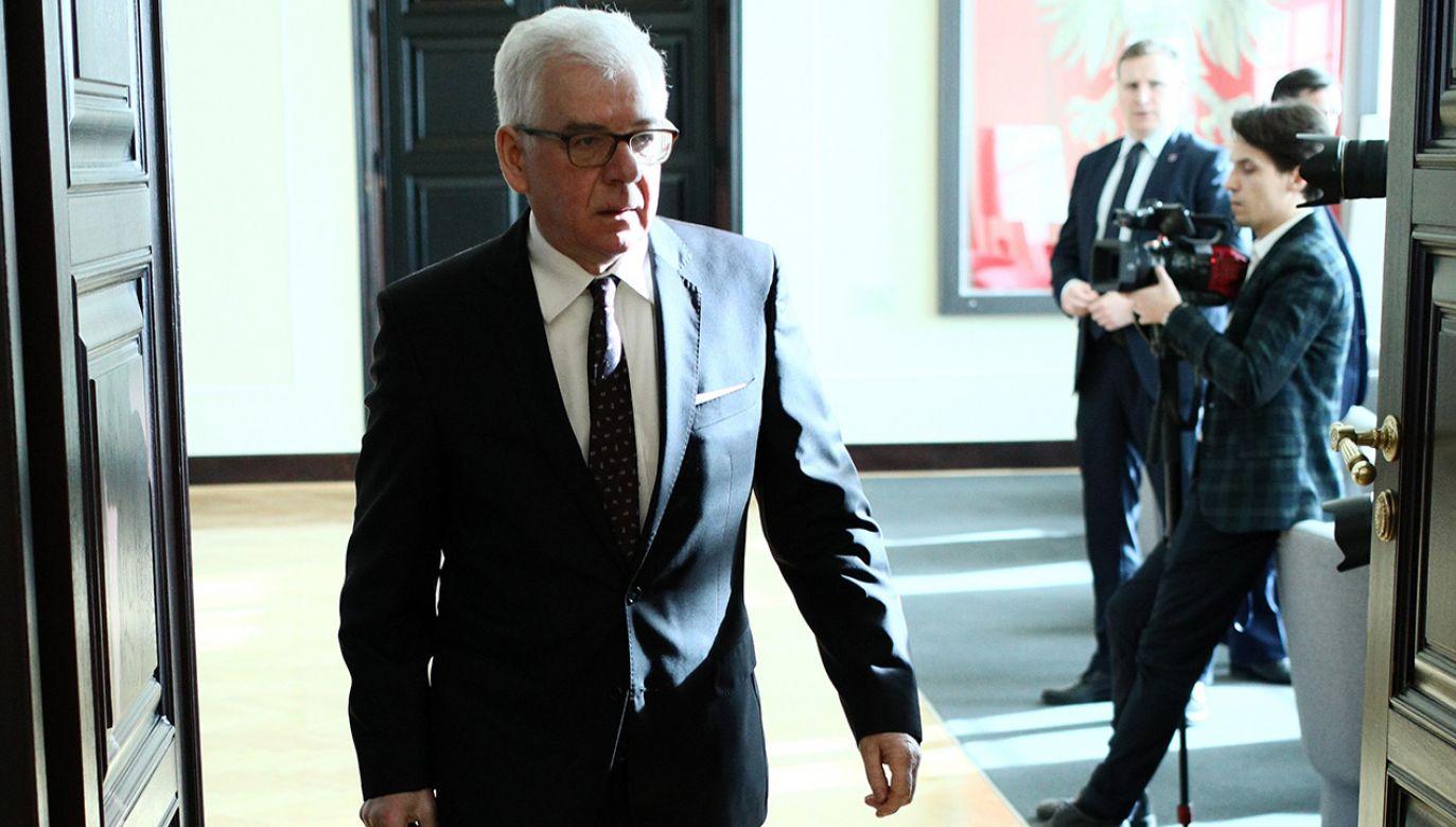 Minister spraw zagranicznych Jacek Czaputowicz (fot.  PAP/Leszek Szymański)