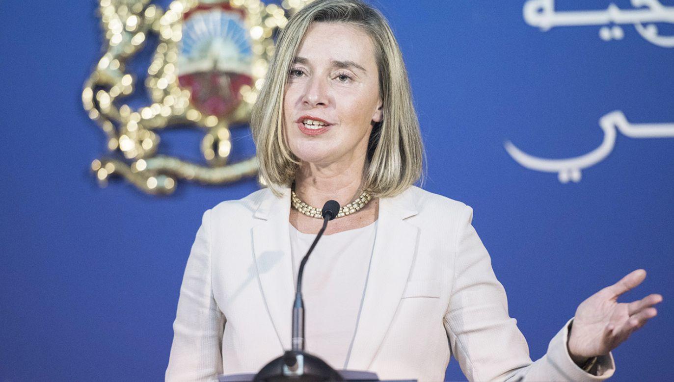 Szefowa unijnej dyplomacji Federica Mogherini (fot. PAP/EPA/JALAL MORCHIDI)