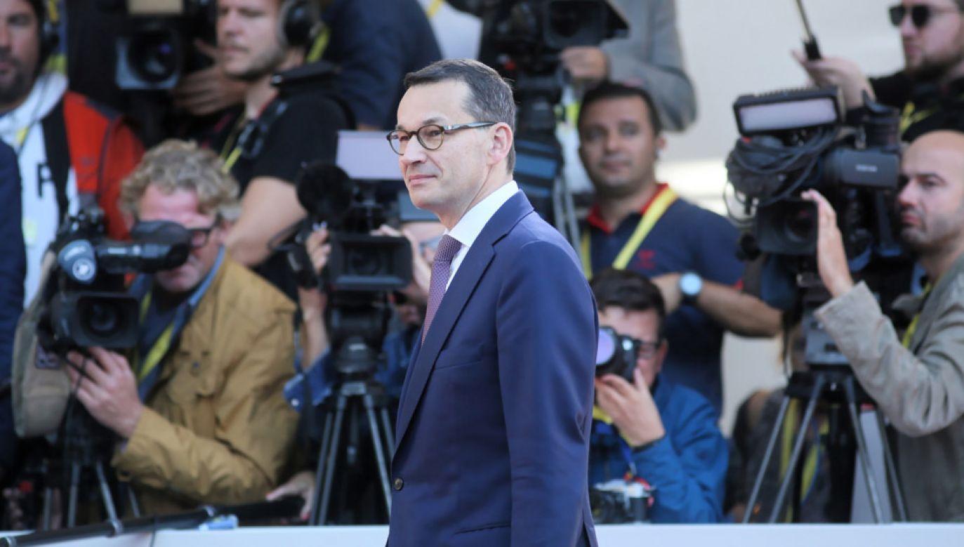 Mateusz Morawiecki wziął udział w nieformalnym szczycie UE w Salzburgu (fot.  PAP/Leszek Szymański)