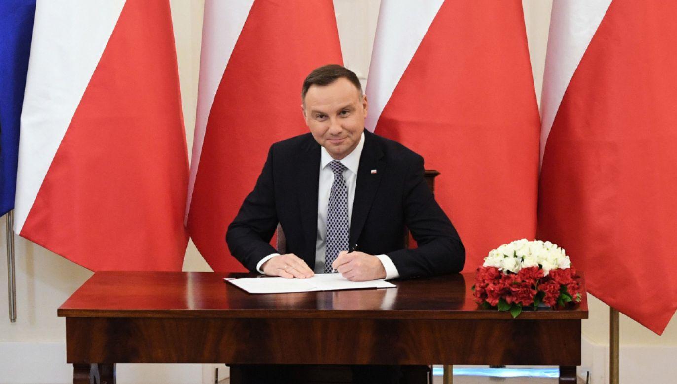 Prezydent Andrzej Duda podpisał ustawę o świadczeniu Emerytura plus (fot.PAP/Radek Pietruszka)