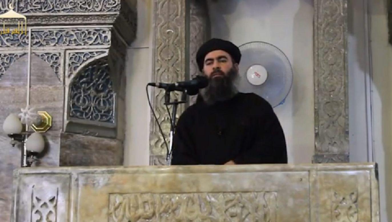 Irackie MSW: to nie jest Abu Bakr al-Baghdadi (fot. PAP/EPA/FURQAN MEDIA / HANDOUT)