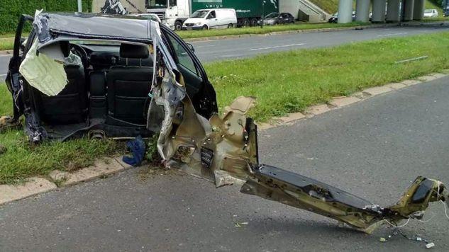 Policja ustala okoliczności wypadku (fot. KMP Lublin)
