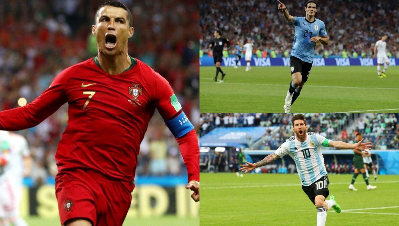 Cristiano Ronaldo, Leo Messi i Edinson Cavani (fot. Getty Images)