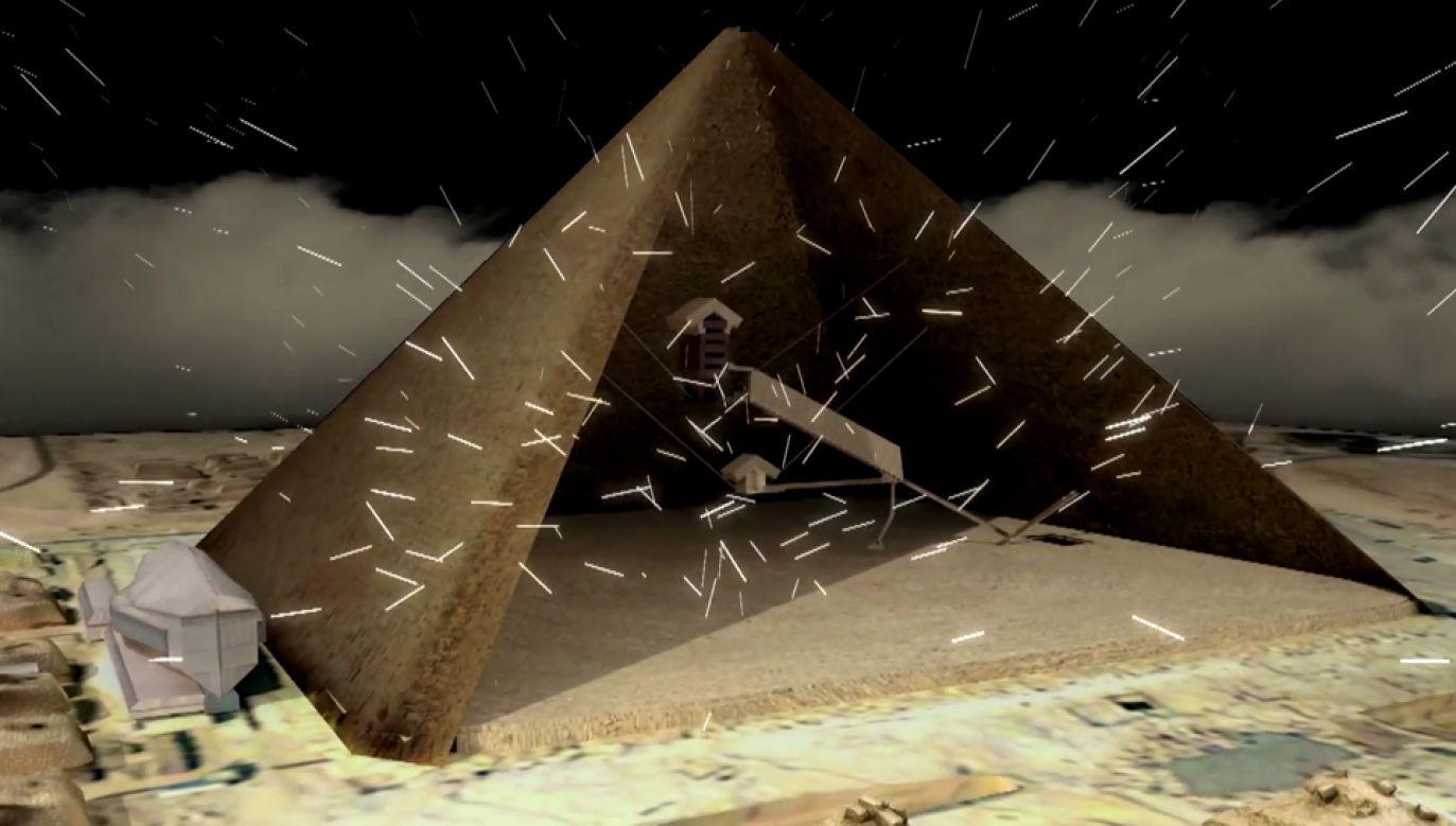 Piramida Cheopsa kryje wiele tajemnic (fot. Vimeo/scanpyramids.org)