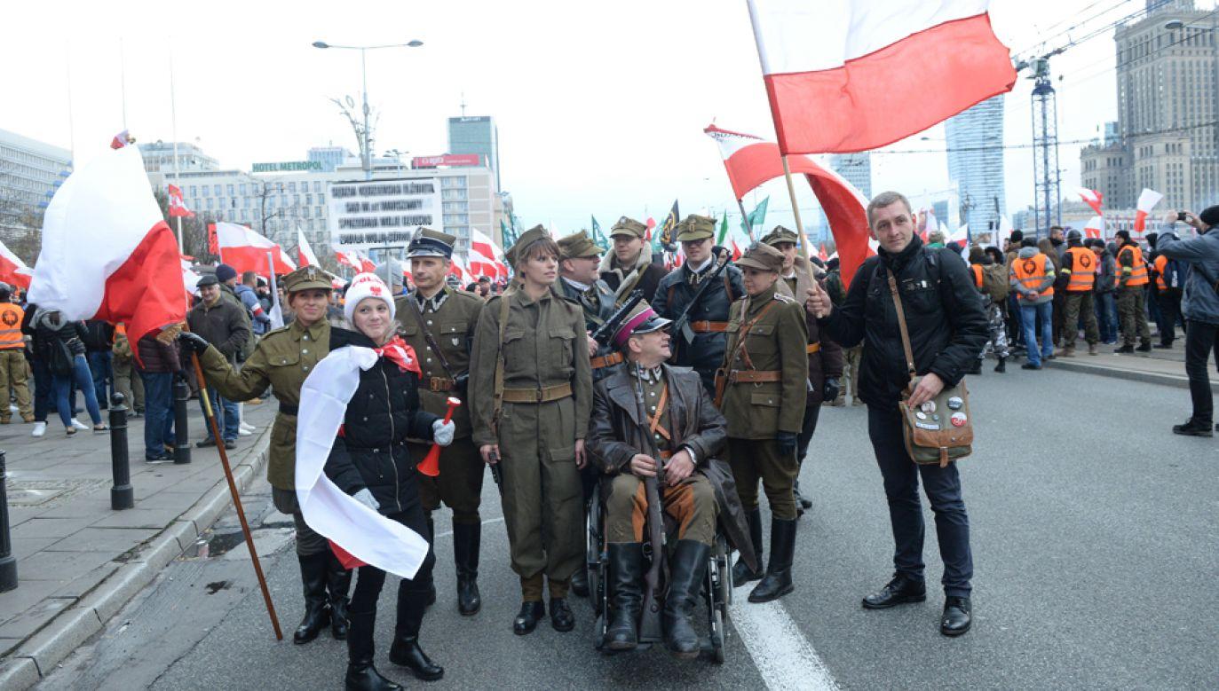 Marsz Niepodległości w Warszawie (fot. PAP/Jacek Turczyk)