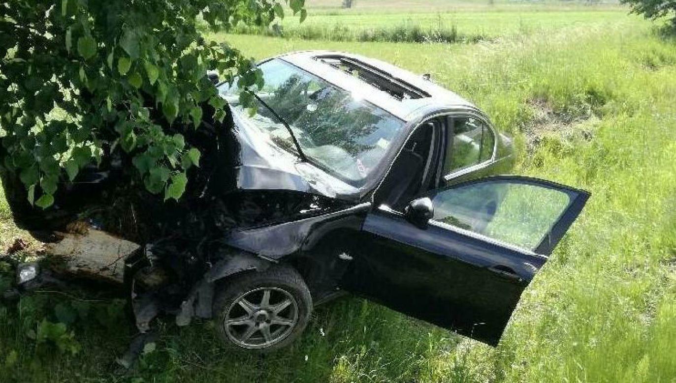 Pochodzący z Tanzanii 34-latek rozbił BMW (fot. policja.pl)