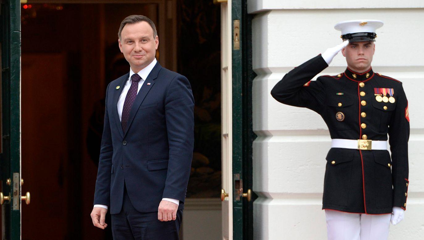 We wtorek prezydent Andrzej Duda i pierwsza dama Agata Kornhauser–Duda złożą oficjalną wizytę w Białym Domu  (fot. arch. PAP/EPA/SHAWN THEW)