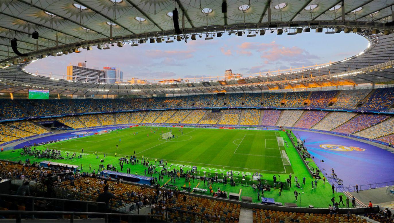 Mecz na Stadionie Olimpijskim w Kijowie obejrzy około 70 tys. widzów (fot. PAP/EPA/ROBERT GHEMENT)