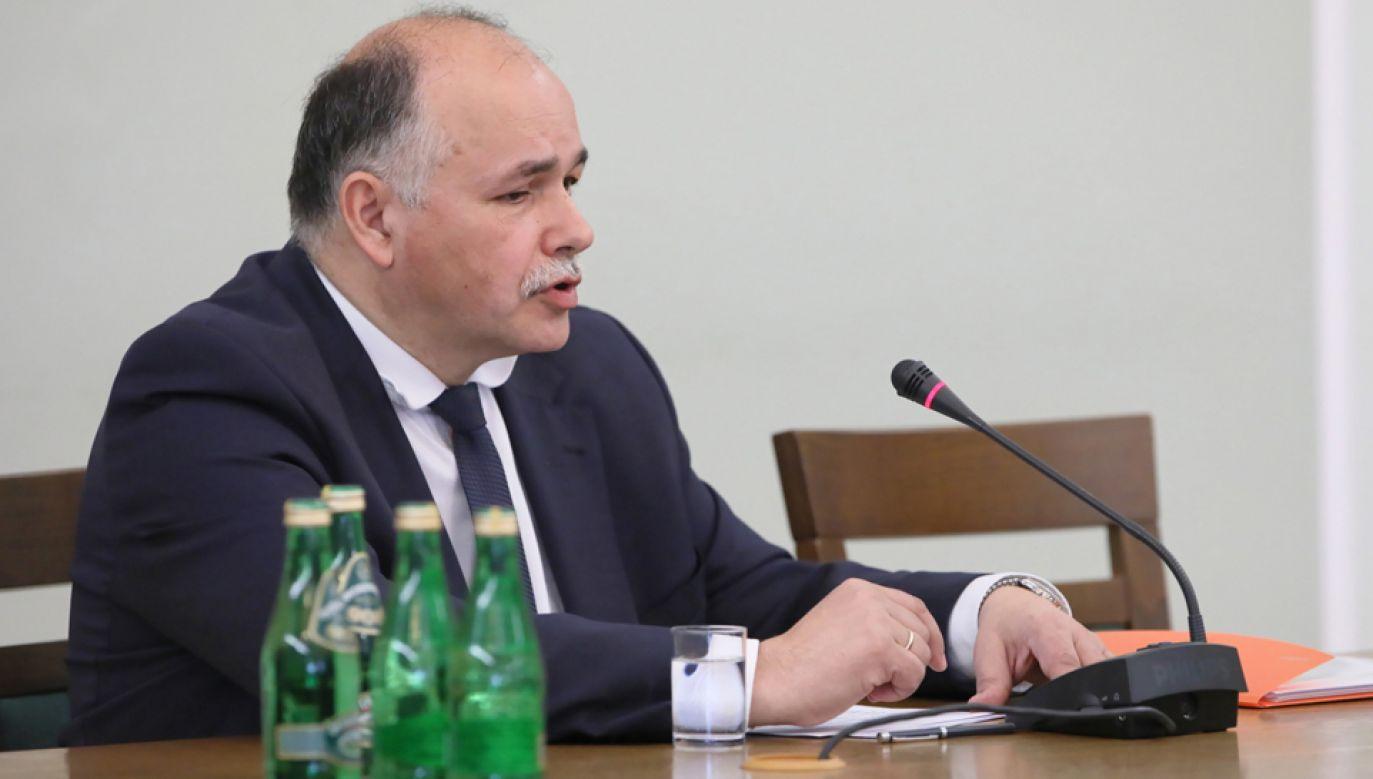 Kazimierz Poznański przed komisją śledczą (fot. PAP/Leszek Szymański)