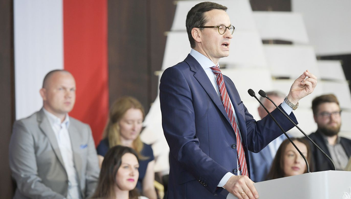 Premier Mateusz Morawiecki (fot.  PAP/Adam Warżawa)