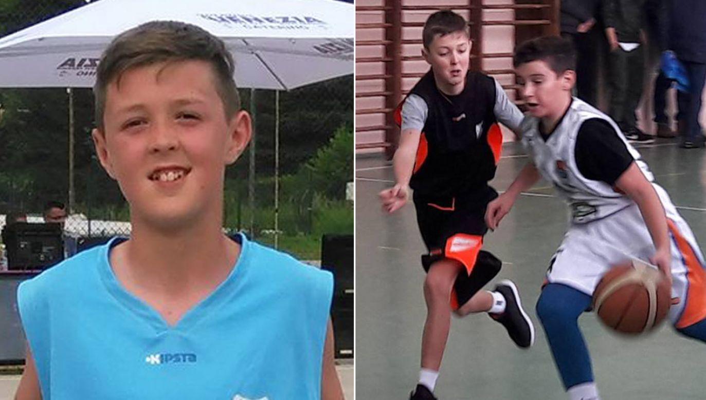 Edah Drobo ma zaledwie 11 lat, a już zagrał w koszykarskiej ekstraklasie (fot. FB/Edah Drobo Drobo)