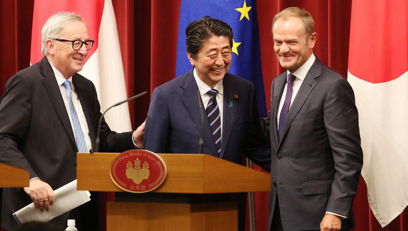 Europejczycy skorzystają z silnej ochrony swoich danych osobowych zgodnie ze standardami ochrony prywatności UE, gdy ich dane zostaną przeniesione do Japonii (fot. PAP/EPA/KOJI SASAHARA / POOL )