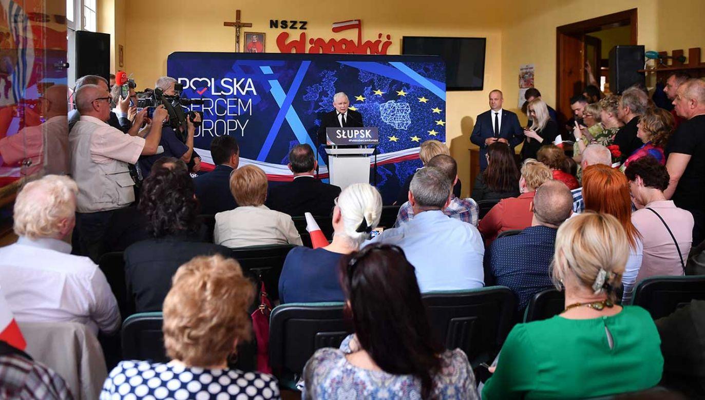 Oświadczenie prezesa PiS Jarosława Kaczyńskiego (fot. PAP/Marcin Gadomski)
