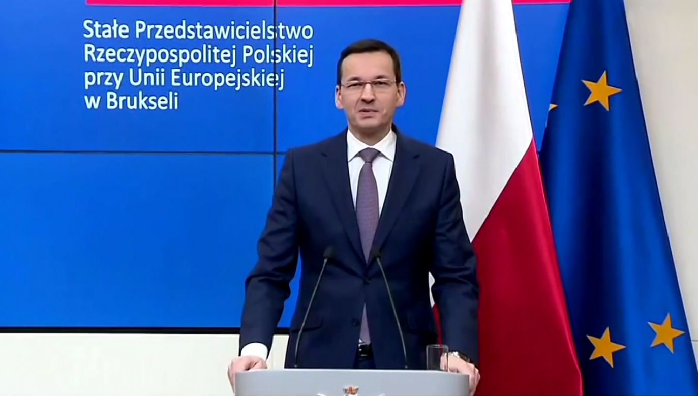 Premier Mateusz Morawiecki (fot. TVP info)