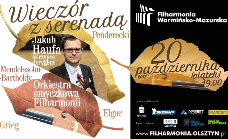 Orkiestrę smyczkową Filharmonii Warmińsko-Mazurskiej poprowadzi skrzypek Jakub Haufa
