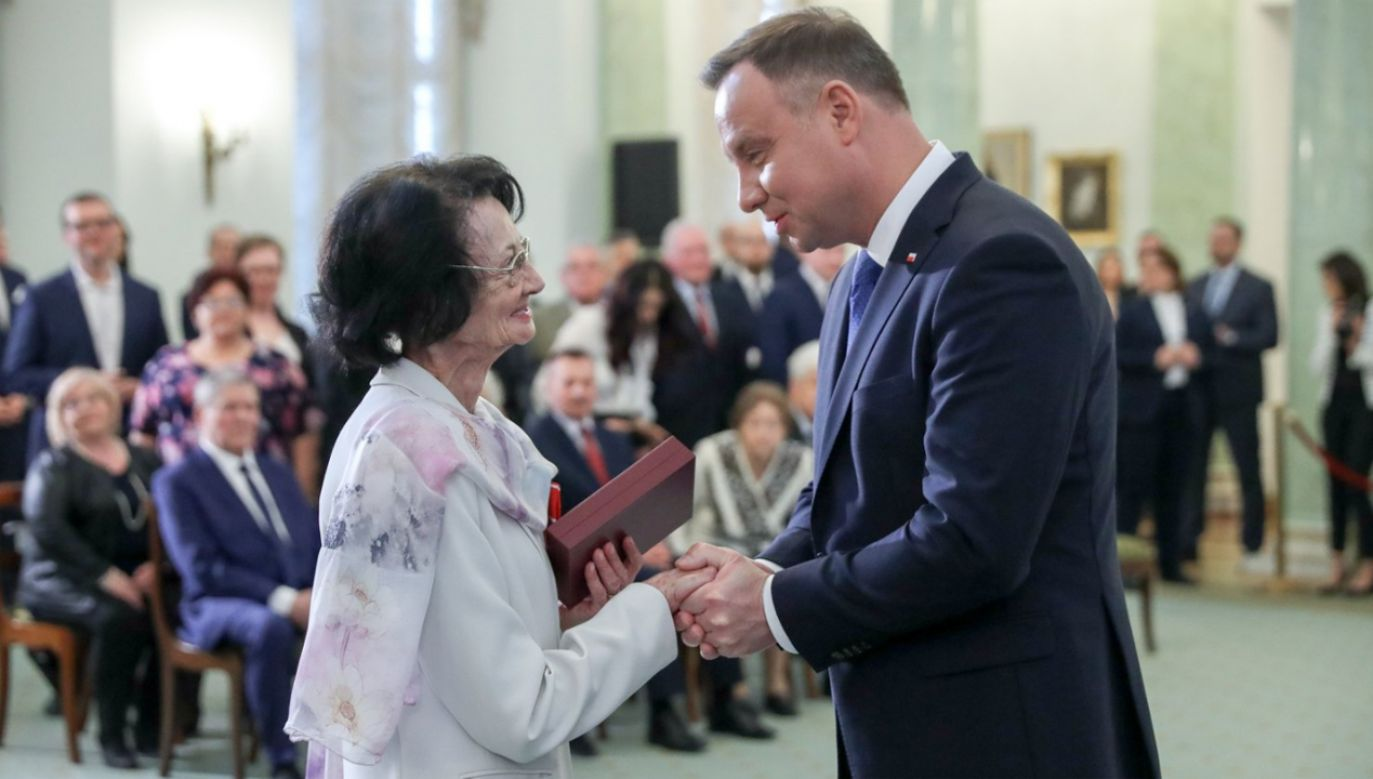 Prezydent odznaczył Polaków ratujących Żydów w czasie okupacji niemieckiej (fot. KPRP/Krzyszrtof Sitkowski)