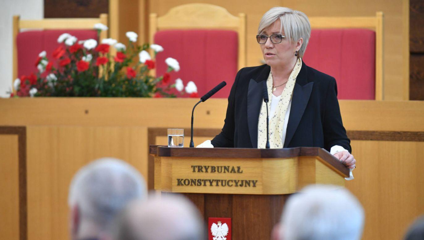 Julia Przyłębska skomentowała m.in. niedawne natarczywe zachowanie dziennikarzy TVN (fot. arch.PAP/Bartłomiej Zborowski)