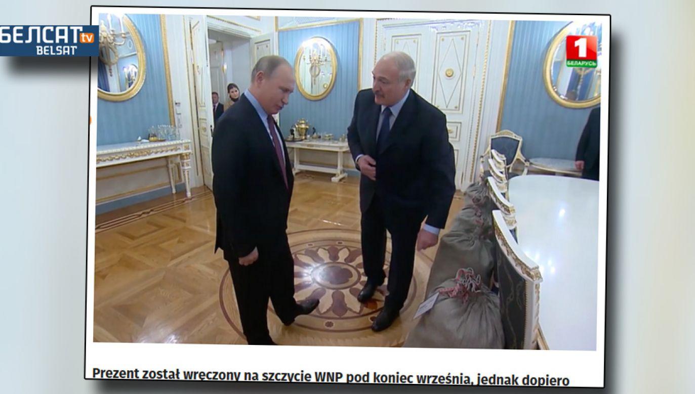 Władimir Putin sam chciał dostać od Aleksandra Łukaszenki kartofle (fot. TV Biełsat)
