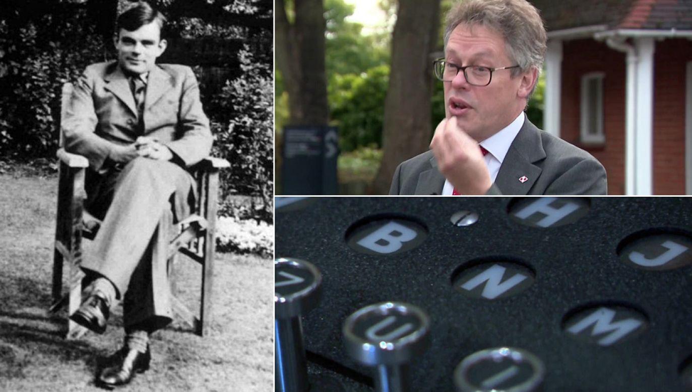 """Alan Turing był bohaterem filmu """"Gra tajemnic"""", który powielał fałszywą wersję historii (fot. TVP Info, Wiki)"""