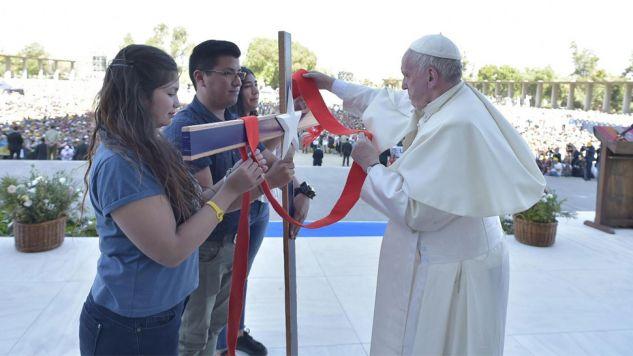 Papież Franciszek kończy wizytę w Chile i czwartek pojedzie do Peru (fot. PAP/EPA/VATICAN MEDIA HANDOUT)