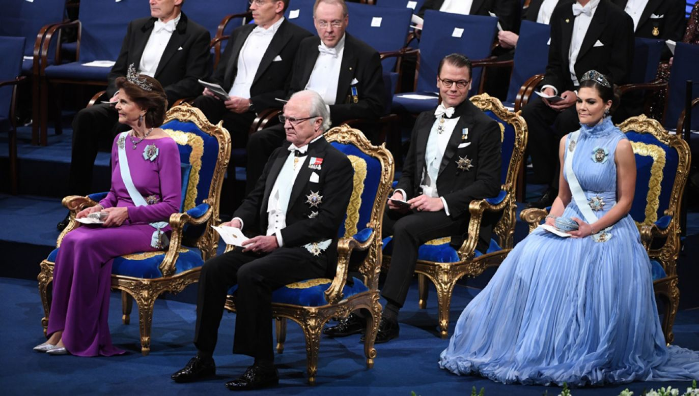 Uroczystośc odbyła się w obecności królowej Sylwii, króla Karola Gustawa, księcia Daniela i księżniczki Wiktorii (fot. PAP/ EPA/Fredrik Sandberg)