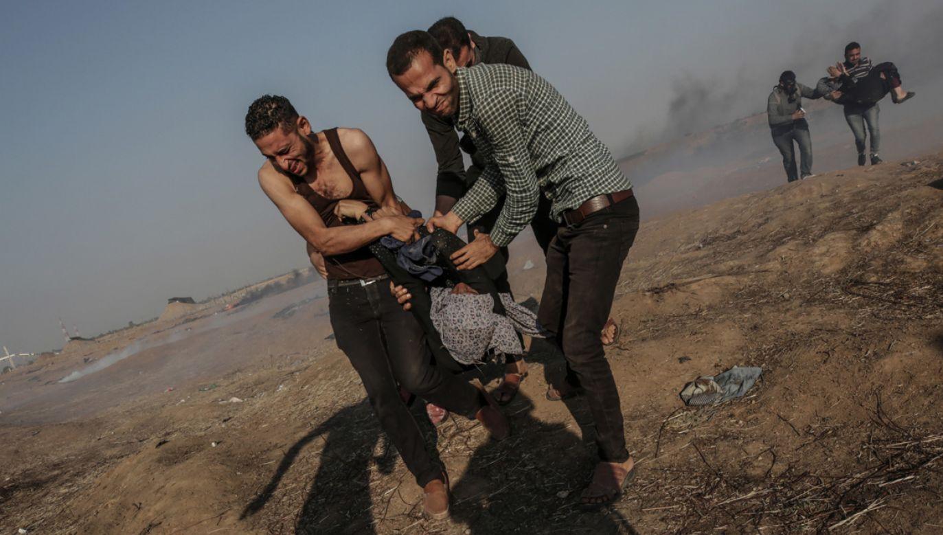 Rannych zostało ponad 2,8 tys. Palestyńczyków (fot. PAP/ EPA/MOHAMMED SABER)