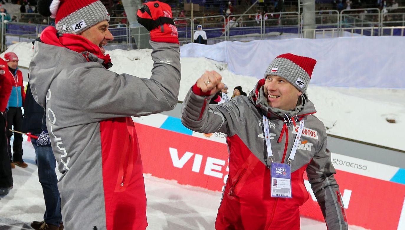 Stefan Horngacher, Jakub Michalczuk (fot. Getty Images)