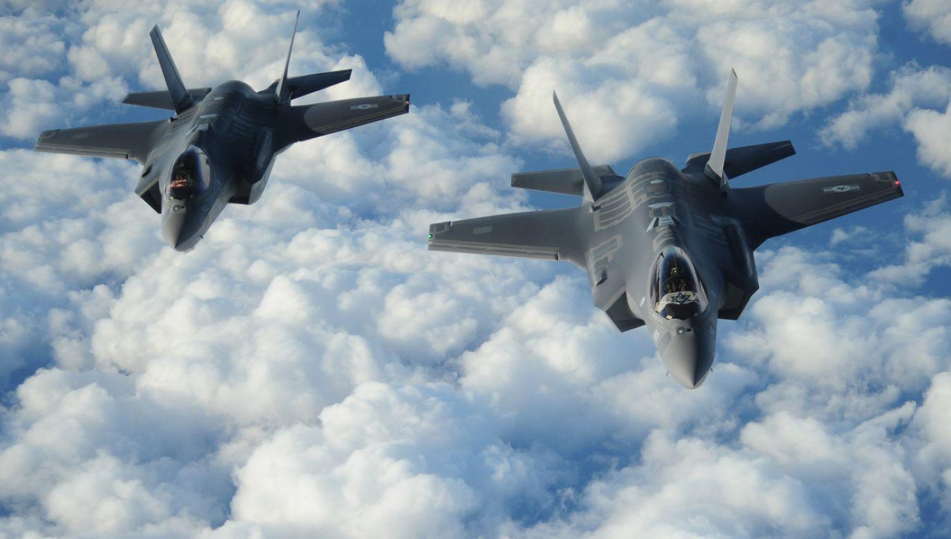 Izraelski myśliwiec F-35 (fot. PAP/EPA/US AIR FORCE/1ST LT. ERIK D. ANTHONY HANDOUT)