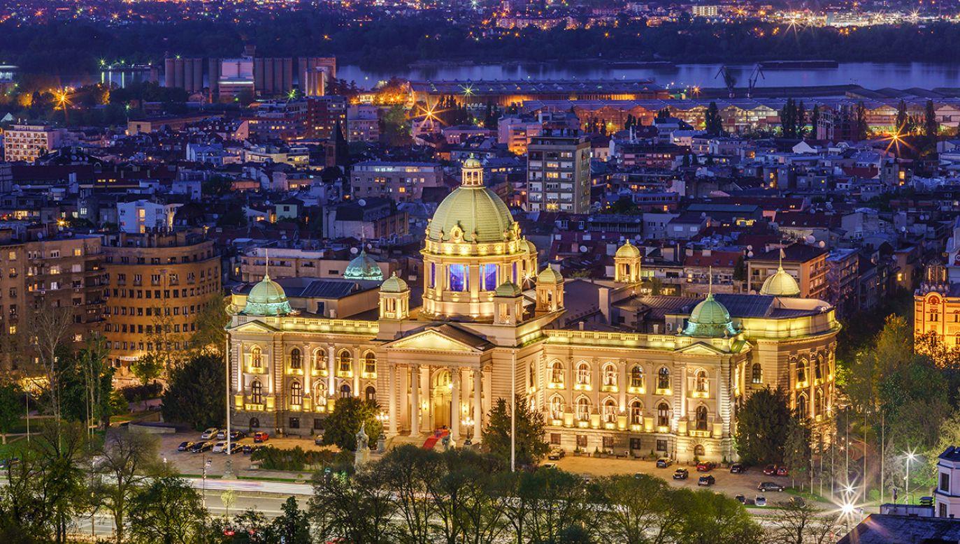 Budynek serbskiego parlamentu w Belgradzie (fot. Shutterstock/Predrag Mladenovic)