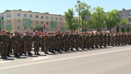 Przysięga żołnierzy 3. Podkarpackiej Brygady Obrony Terytorialnej