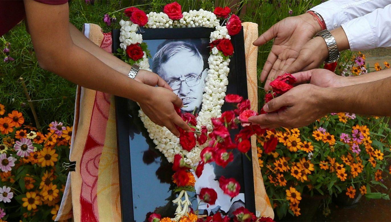 Prof. Stephen Hawking zmarł w wieku 76 lat (fot. PAP/EPA/JAGADEESH NV)