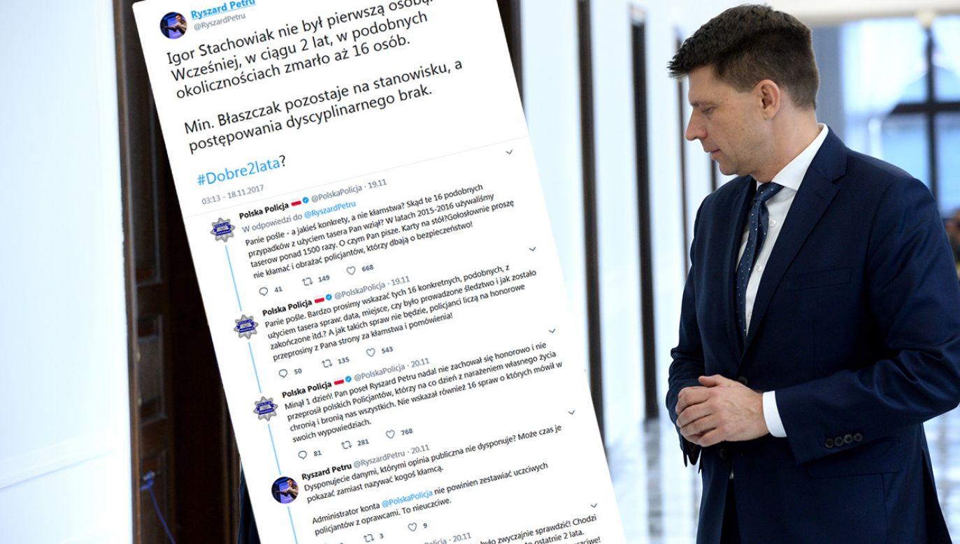 Policja wylicza na Twitterze, ile już dni czeka na przeprosiny Ryszarda Petru (fot. PAP/Jacek Turczyk/tt/)