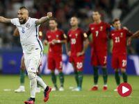 Puchar Konfederacji, Rosja - 1/2 finału: Portugalia – Chile (skrót)