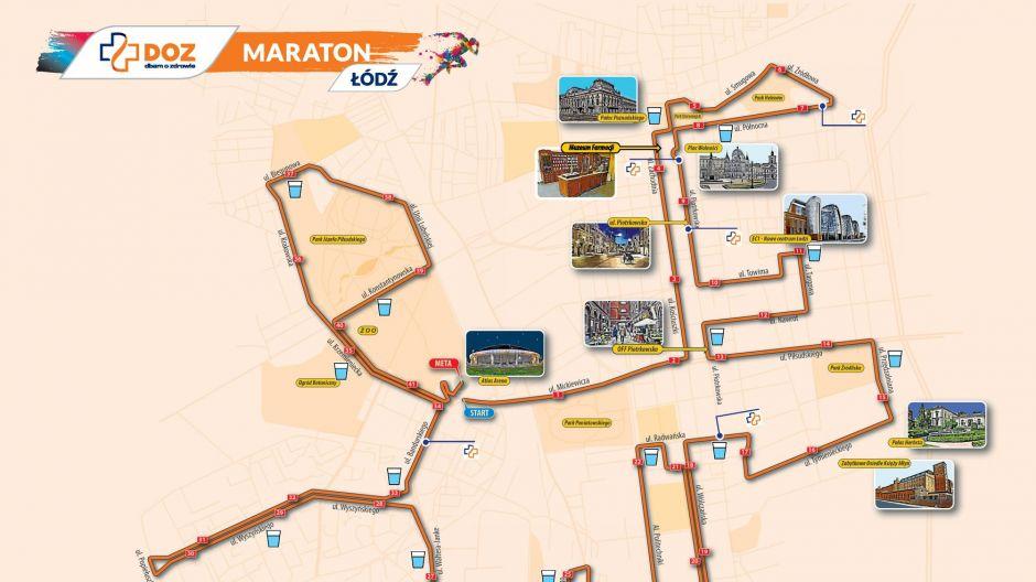 Trasa maratonu / fot. UMŁ