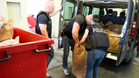 Policjanci z KWP w Bydgoszczy spalili 125 kg narkotyków