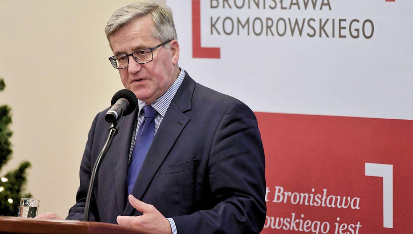 Bronisław Komorowski (fot. arch.PAP/Bartłomiej Zborowski)