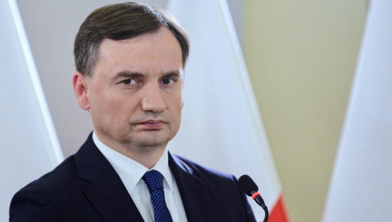 Minister Ziobro powiedział, że znalezienie sprawcy morderstwa na 10-letniej dziewczynce to dla polskiej prokuratury i policji to sprawa honorowa (fot.  PAP/Jakub Kamiński)