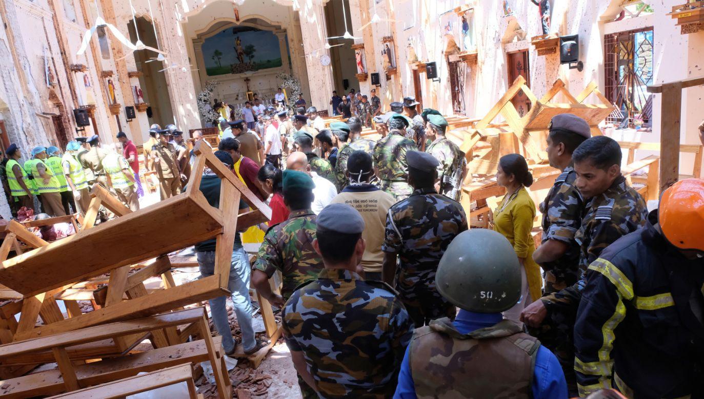 W zamachach zginęło co najmniej 207 osób (fot. PAP/EPA/STR)