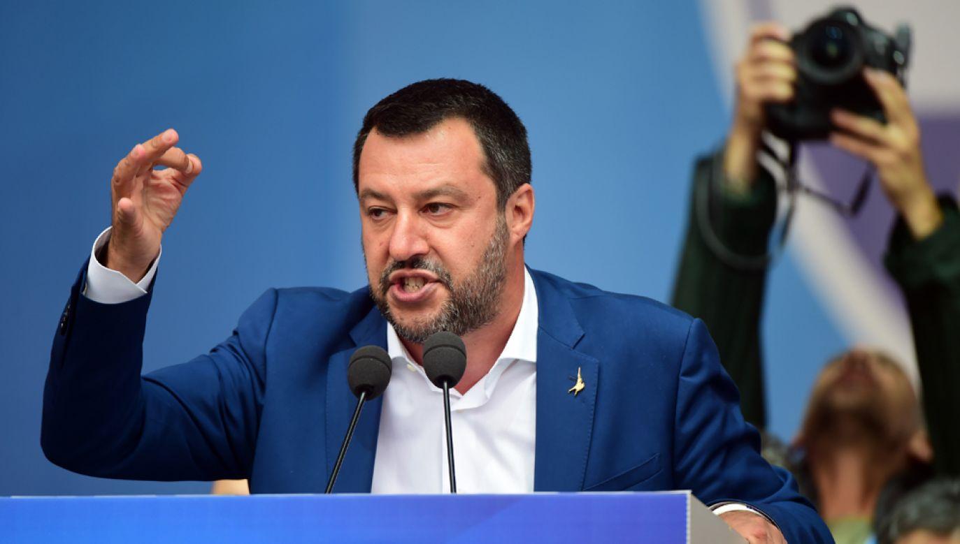 Wicepremier, minister spraw wewnętrznych Włoch i przywódca prawicowej partii Liga Północna Matteo Salvini (fot. Pier Marco Tacca/Getty Images)