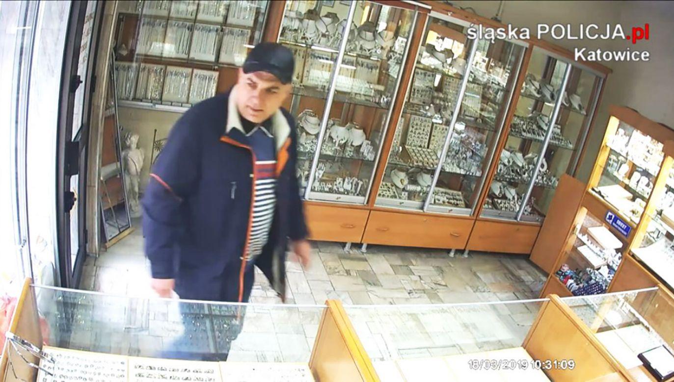 Policja publikuje wizerunek sprawcy i prosi o pomoc w ustaleniu jego tożsamości (fot. Policja śląska)