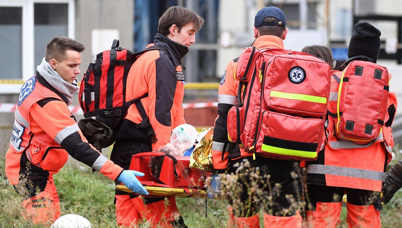 Pożar gasiło 10 zastępów straży pożarnej (fot. arch.PAP)