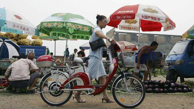 Chińskie rowery elektryczne zalewają rynek europejski (fot. Guang Niu/Getty Images)