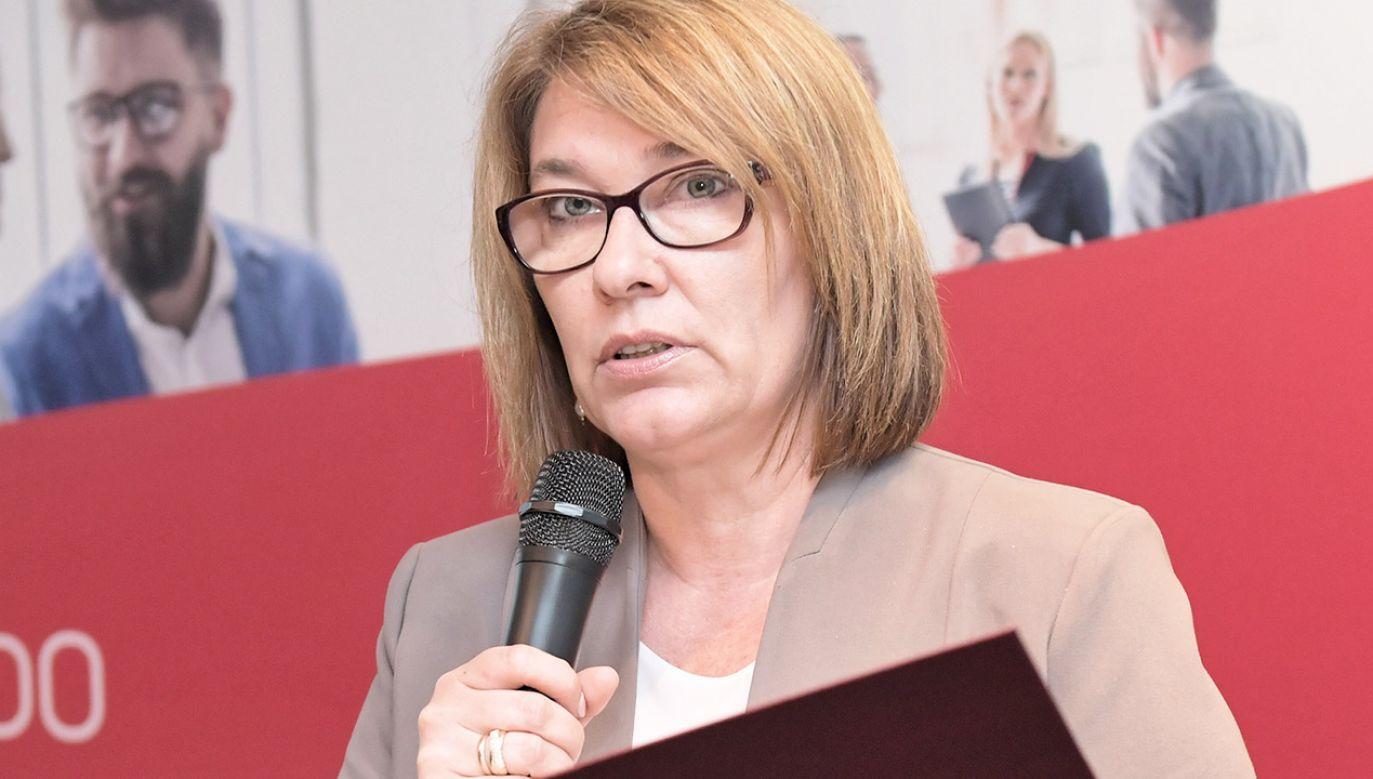 Rzeczniczka PiS Beata Mazurek skomentowała decyzję prezydenta o wecie (fot. arch.PAP/Wojciech Pacewicz)