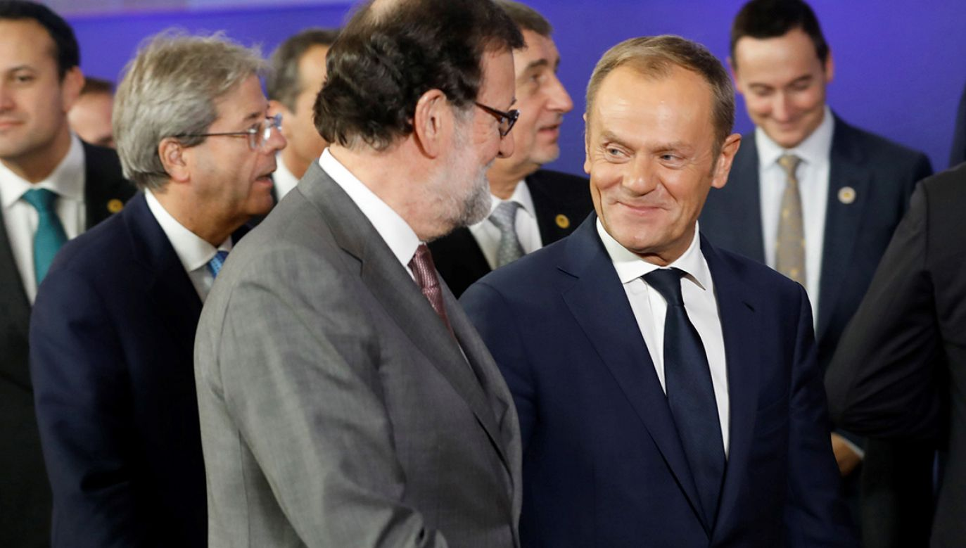 Donald Tusk (fot. PAP/EPA/DIEGO CRESPO / Spanish Government Presidency)