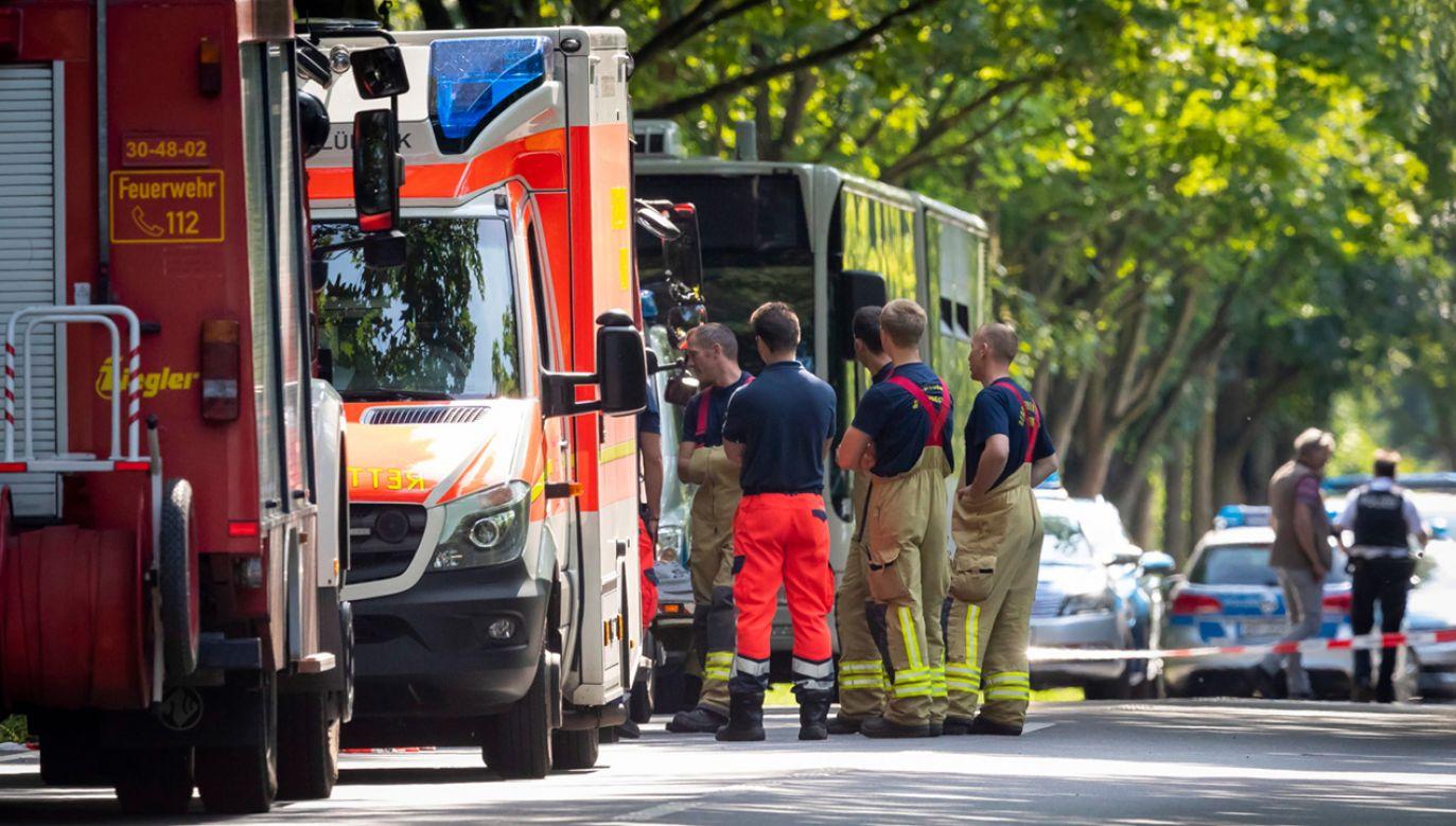 W ataku nożownika zostało rannych co najmniej 14 osób (fot. PAP/EPA/FELIX KOENIG)