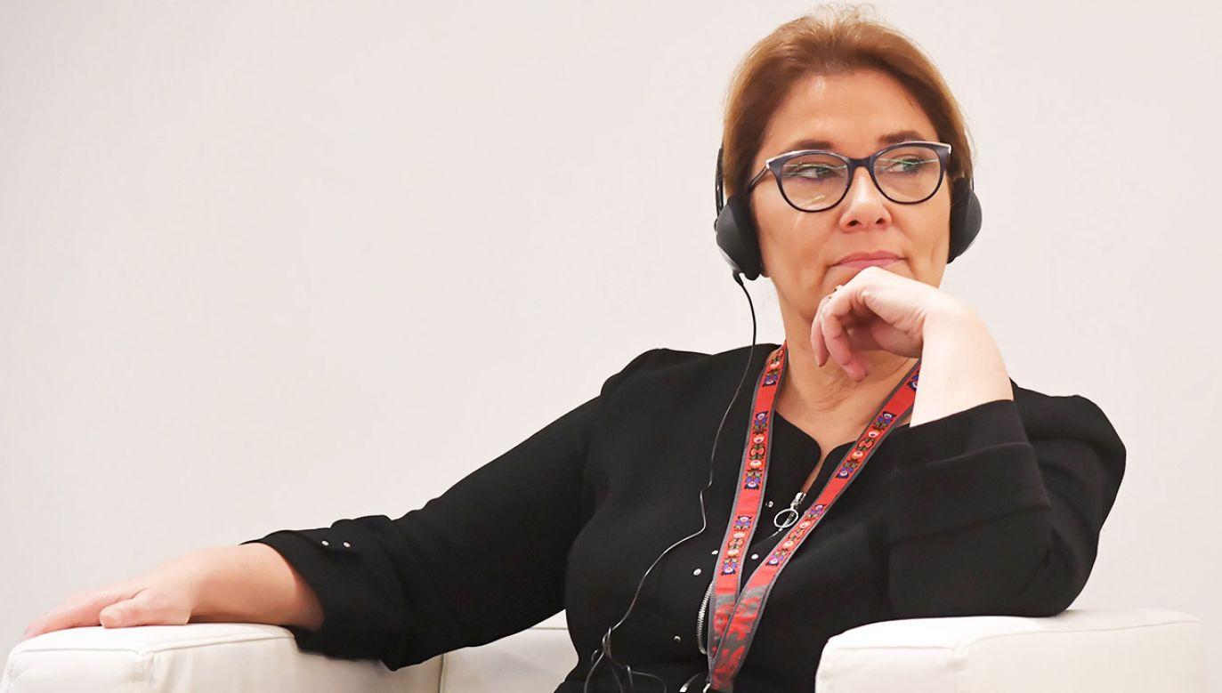 """""""Nienawiść i obłuda powodują, że Schetyna pisze coraz większe idiotyzmy"""", napisała Beata Mazurek (fot. PAP/Jacek Bednarczyk)"""